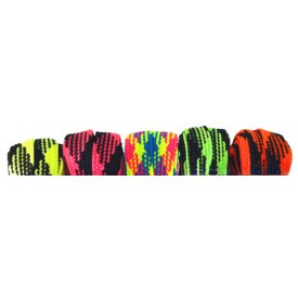 Wide Neon Plaid Laces